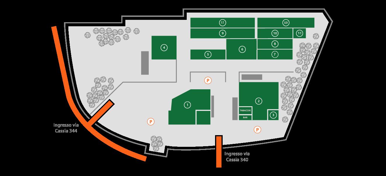 Mappa negozi Parco Commerciale Pandora